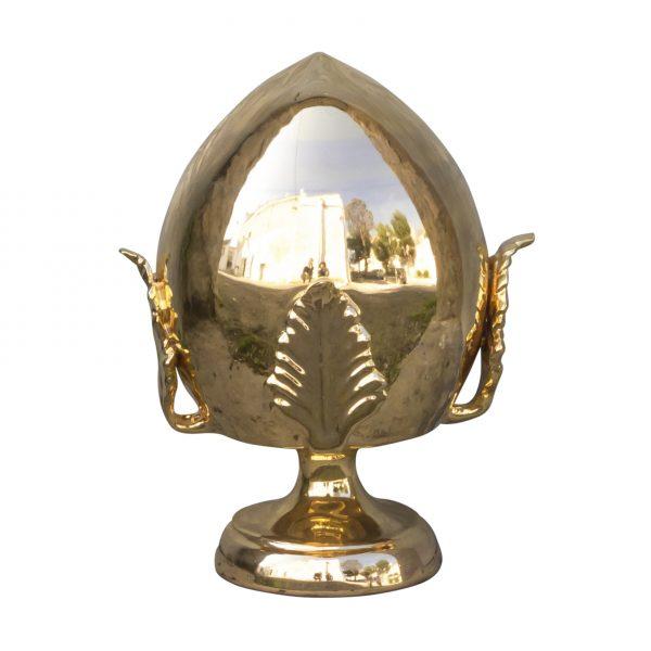 Pomo in ceramica color oro