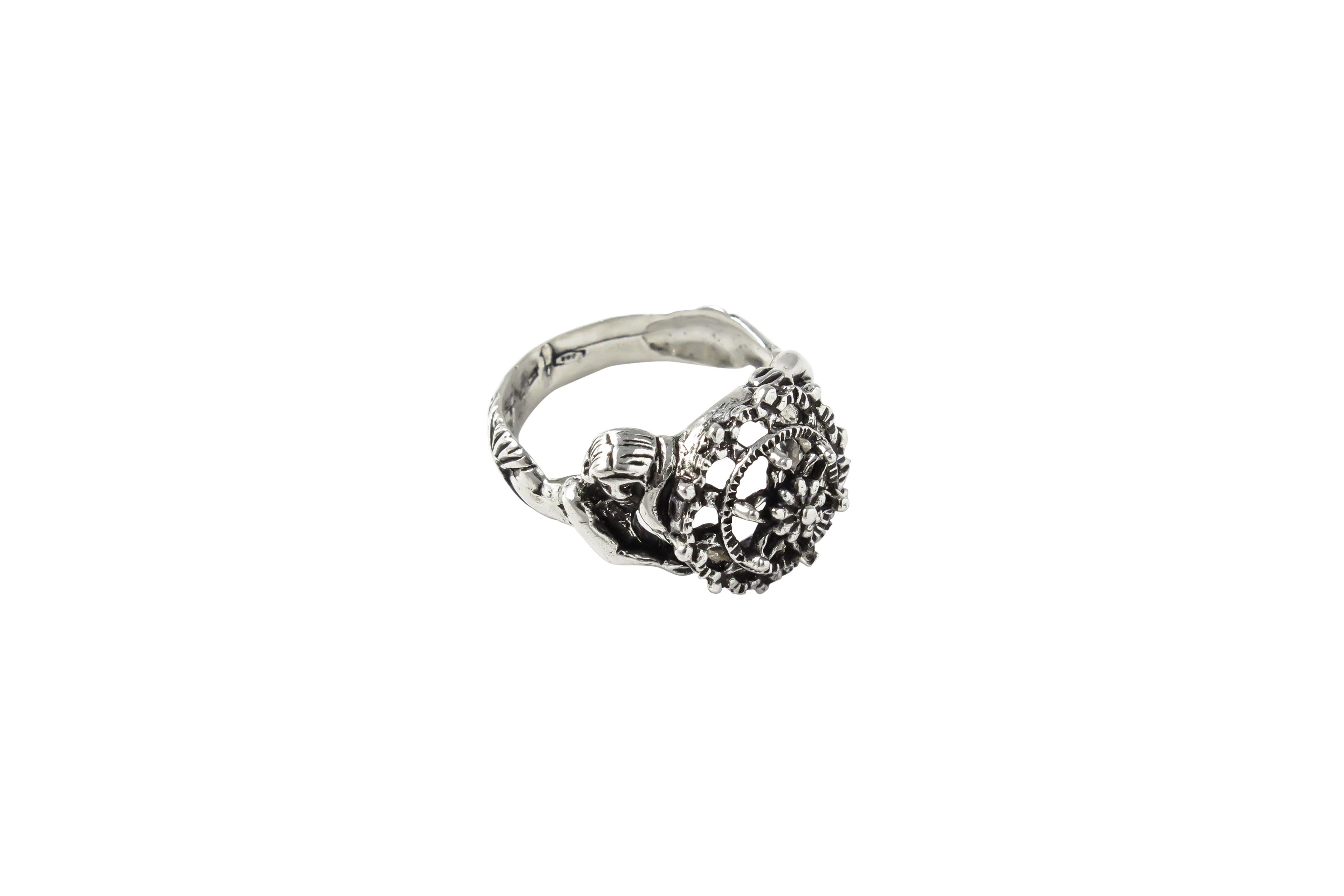 Anello Sirena in argento 925