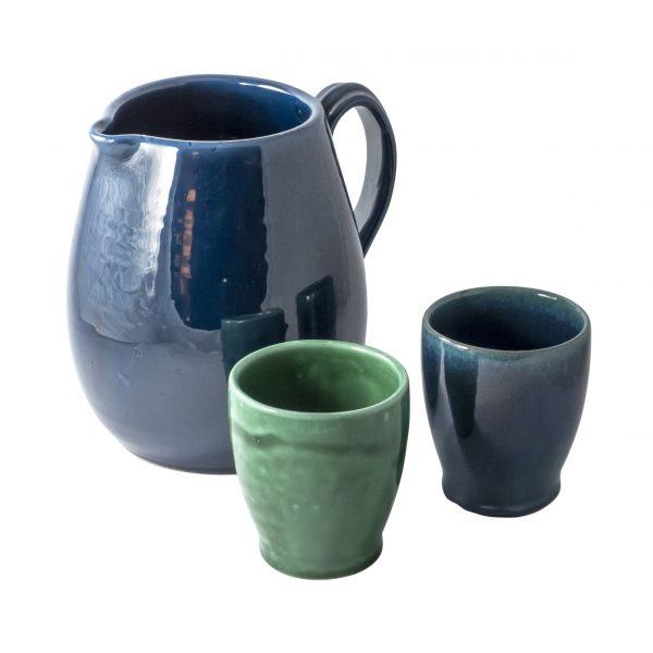 Ceramiche di Faenza - Brocca con bicchieri